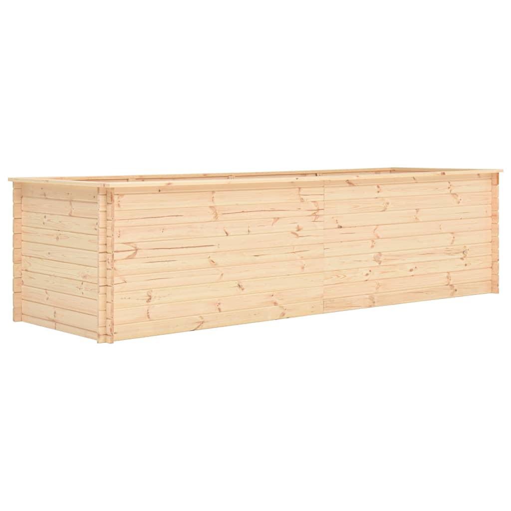 vidaXL Plantenbak 300x100x80,5 cm 19 mm FSC grenenhout