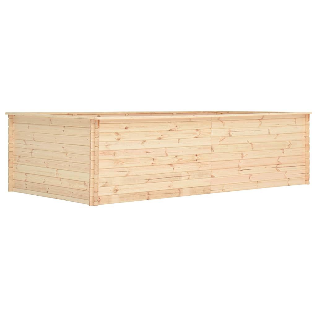 vidaXL Strat înălțat de grădină, 300x150x80,5 cm, lemn de pin, 19 mm vidaxl.ro
