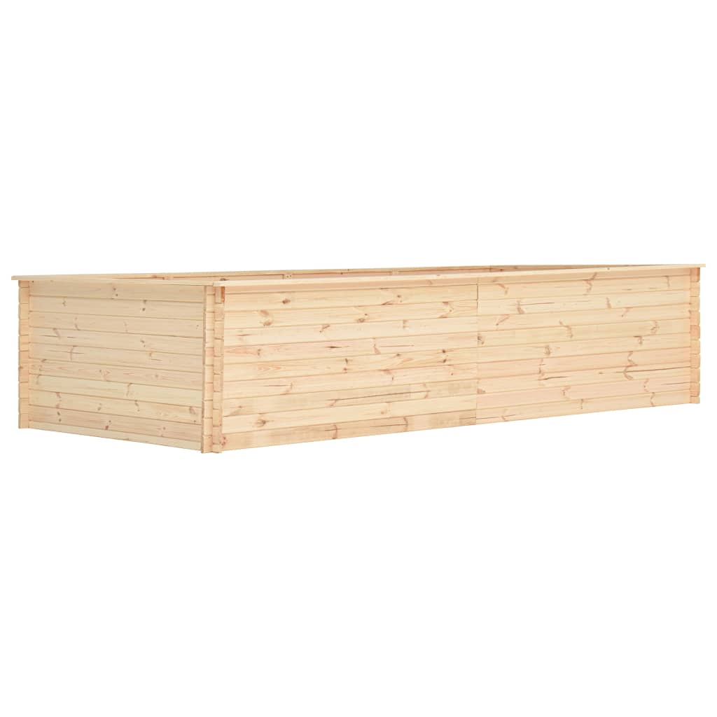 vidaXL Plantenbak 450x150x80,5 cm 19 mm FSC grenenhout