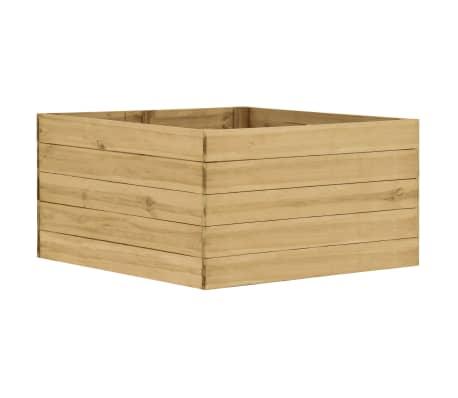 vidaXL Arriate de madera de pino impregnada 100x100x54 cm