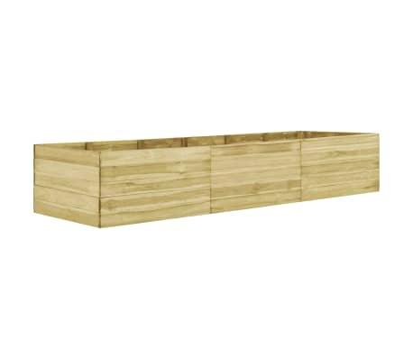 vidaXL Arriate de madera de pino impregnada 300x100x54 cm