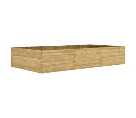 vidaXL Arriate de madera de pino impregnada 300x150x54 cm