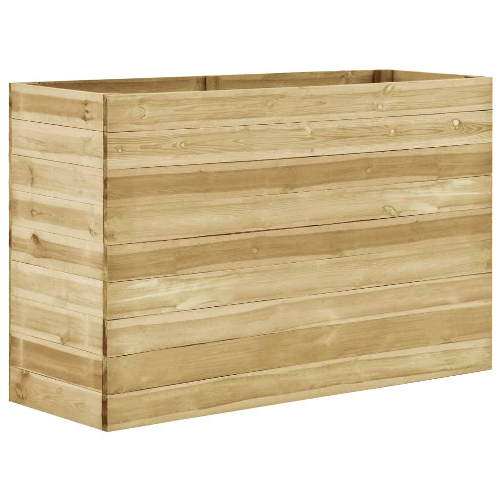 vidaXL Strat înălțat de grădină, 150x50x97 cm, lemn de pin tratat poza 2021 vidaXL
