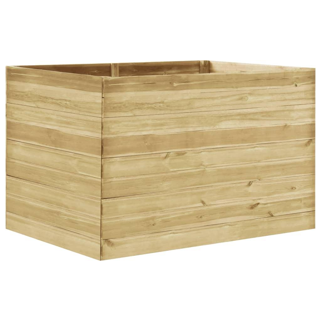 vidaXL Strat înălțat de grădină, 150x100x97 cm, lemn de pin tratat poza 2021 vidaXL