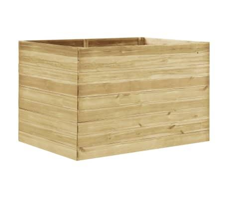 vidaXL Arriate de madera de pino impregnada 150x100x97 cm
