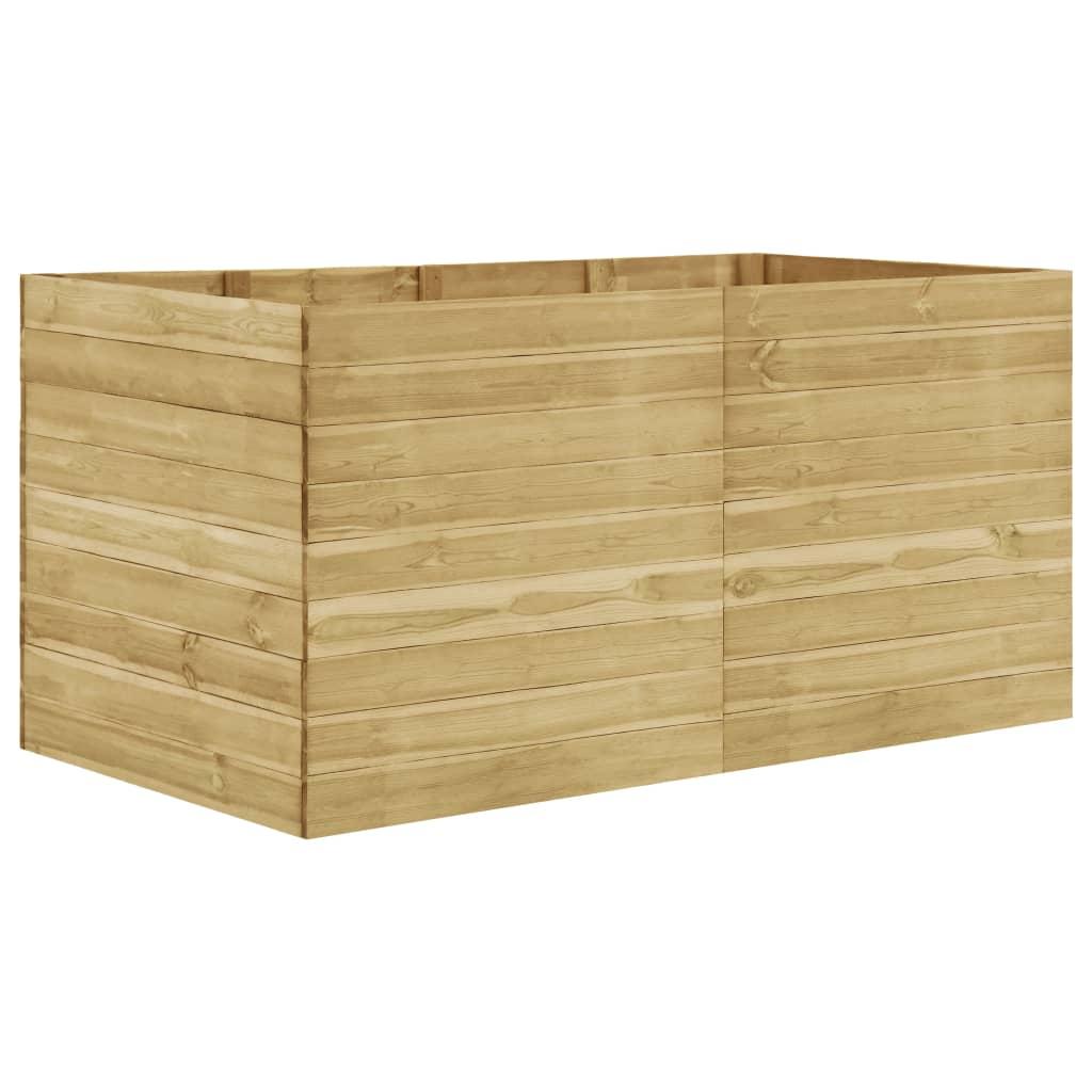 vidaXL Strat înălțat de grădină, 200x100x97 cm, lemn de pin tratat poza vidaxl.ro