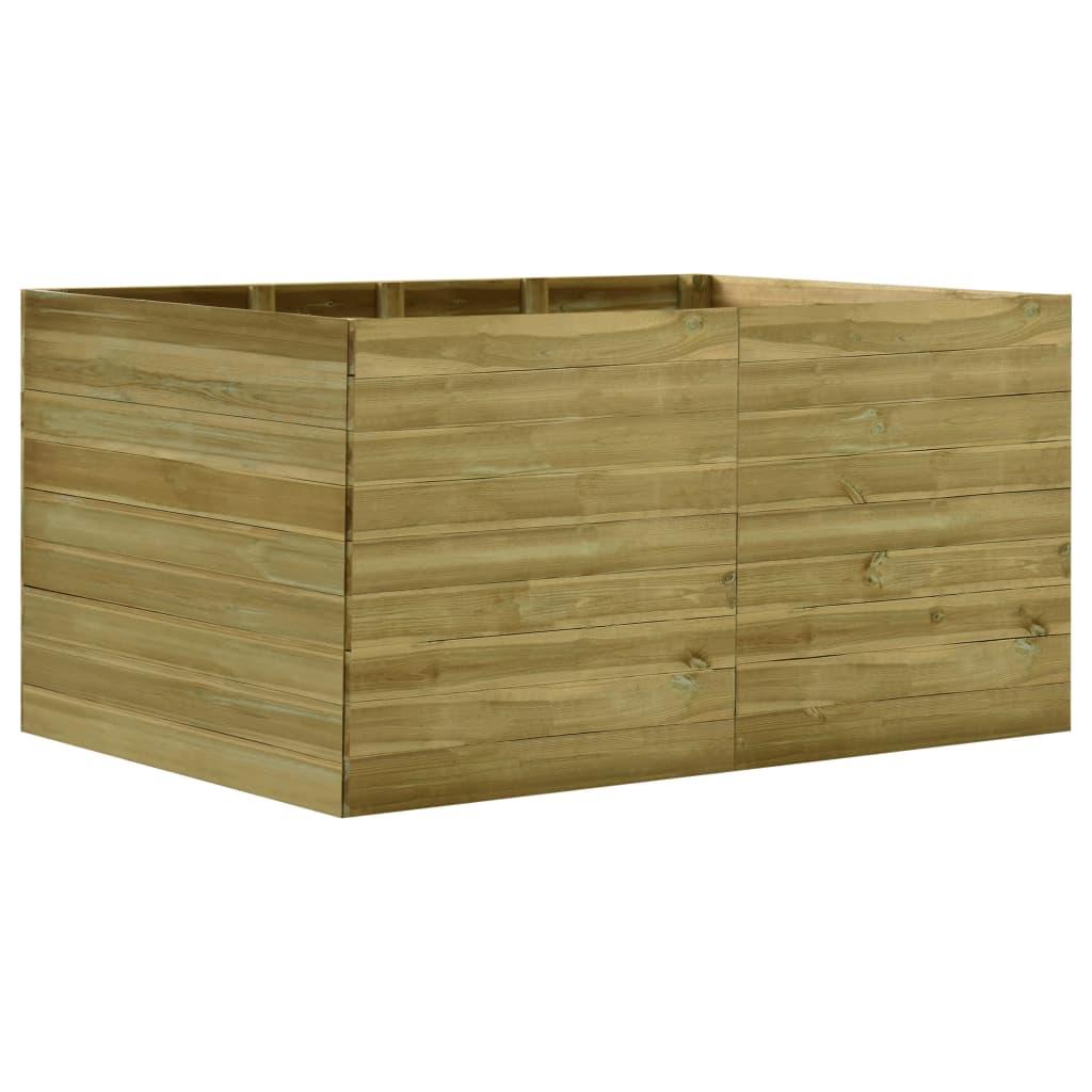 vidaXL Plantenbak verhoogd 200x150x97 cm geïmpregneerd grenenhout