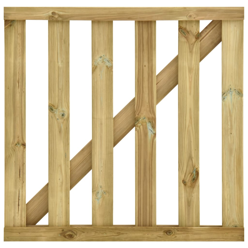 vidaXL Poartă de grădină din șipci, 100 x 100 cm, lemn de pin tratat poza 2021 vidaXL