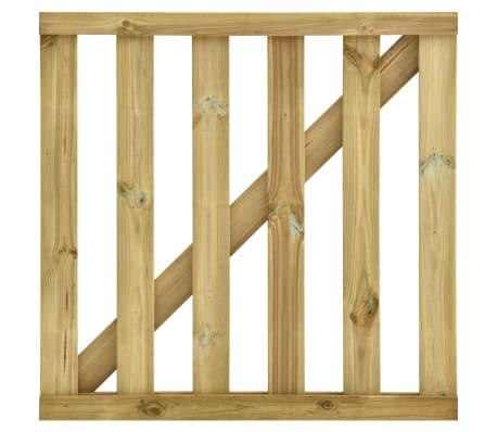 vidaXL Poort gelat 100x100 cm geïmpregneerd grenenhout