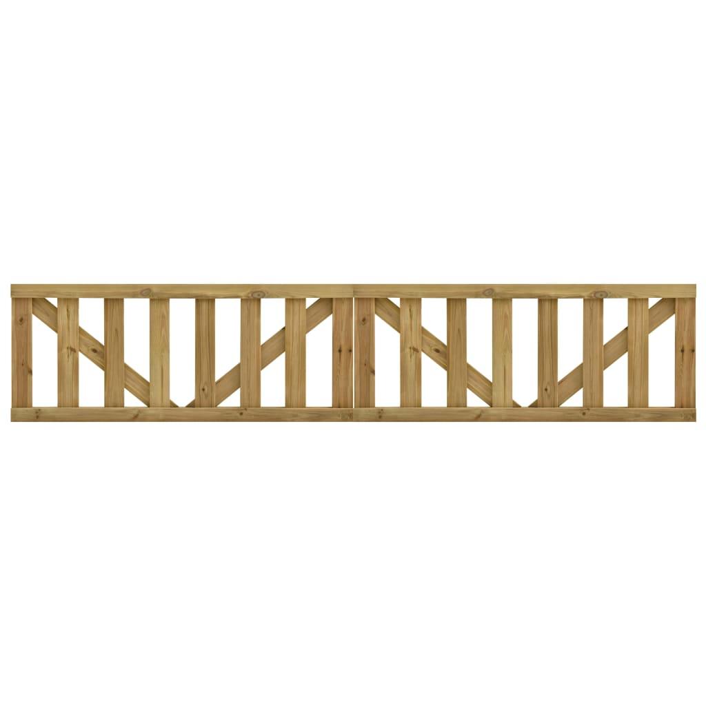 Zahradní 2křídlá laťková brána impregnovaná borovice 150x60 cm