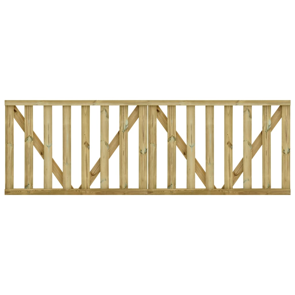 vidaXL Poorten gelat 2 st 150x100 cm geïmpregneerd grenenhout