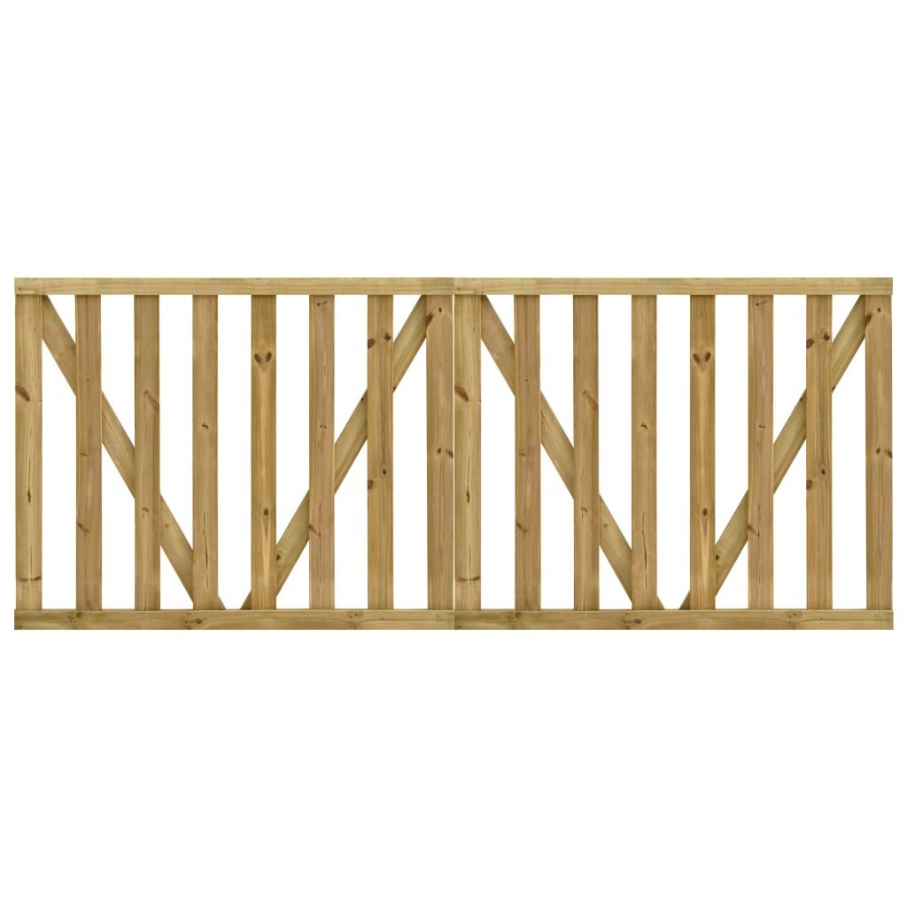Zahradní 2křídlá laťková brána impregnovaná borovice 150x120 cm