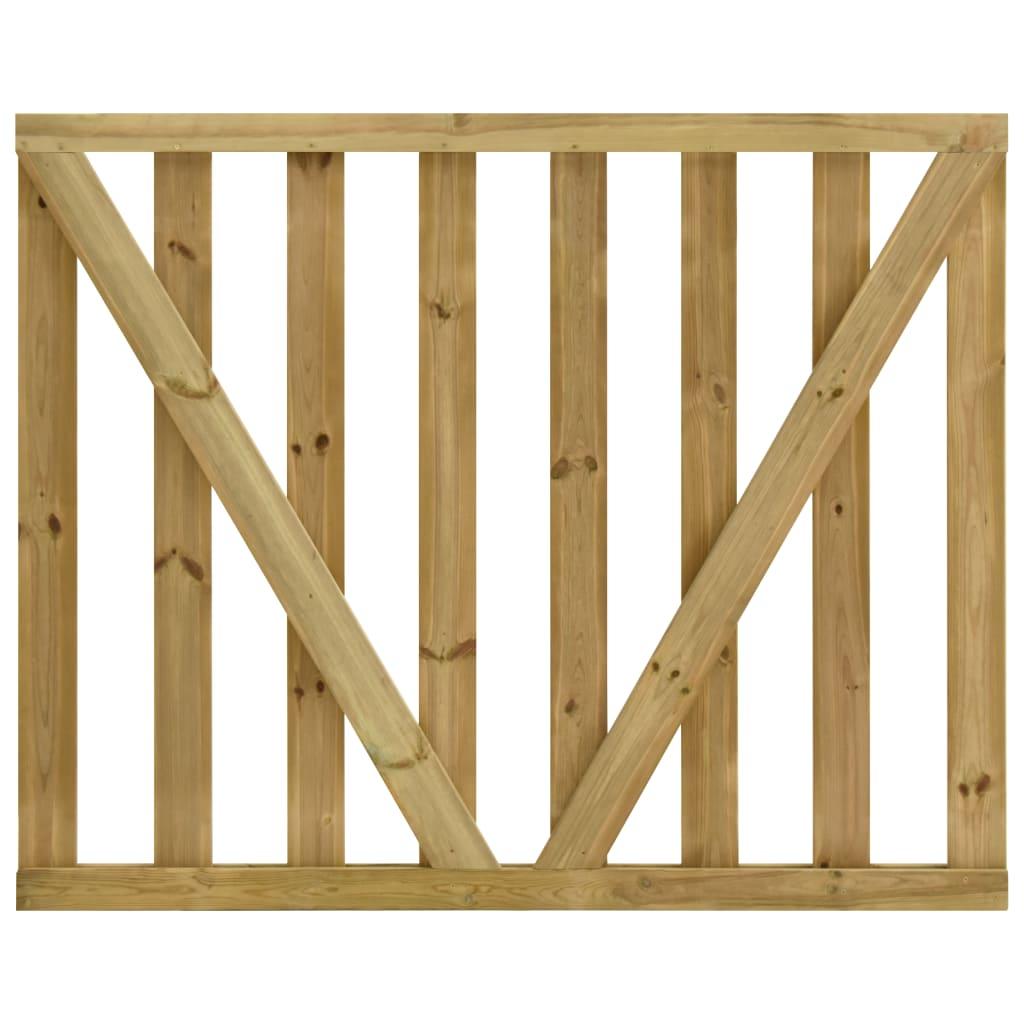 vidaXL Poorten gelat 2 st 150x120 cm geïmpregneerd grenenhout