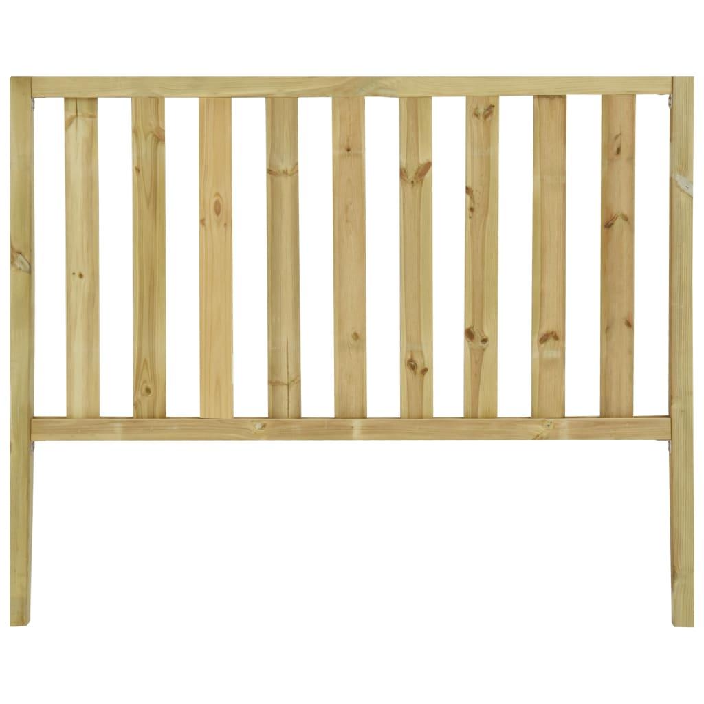 vidaXL Gard de grădină cu 2 stâlpi, 182 x 150 cm, lemn de pin tratat imagine vidaxl.ro
