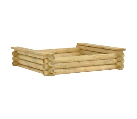 vidaXL Groapă de nisip, 120 x 120 x 27 cm, lemn de pin tratat