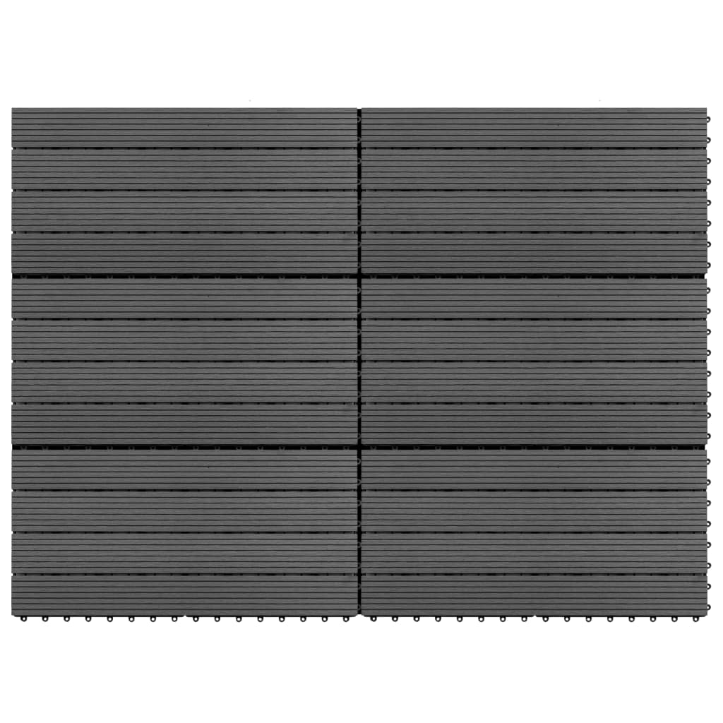 WPC dlaždice 60 x 30 cm 6 ks 1 m² šedé
