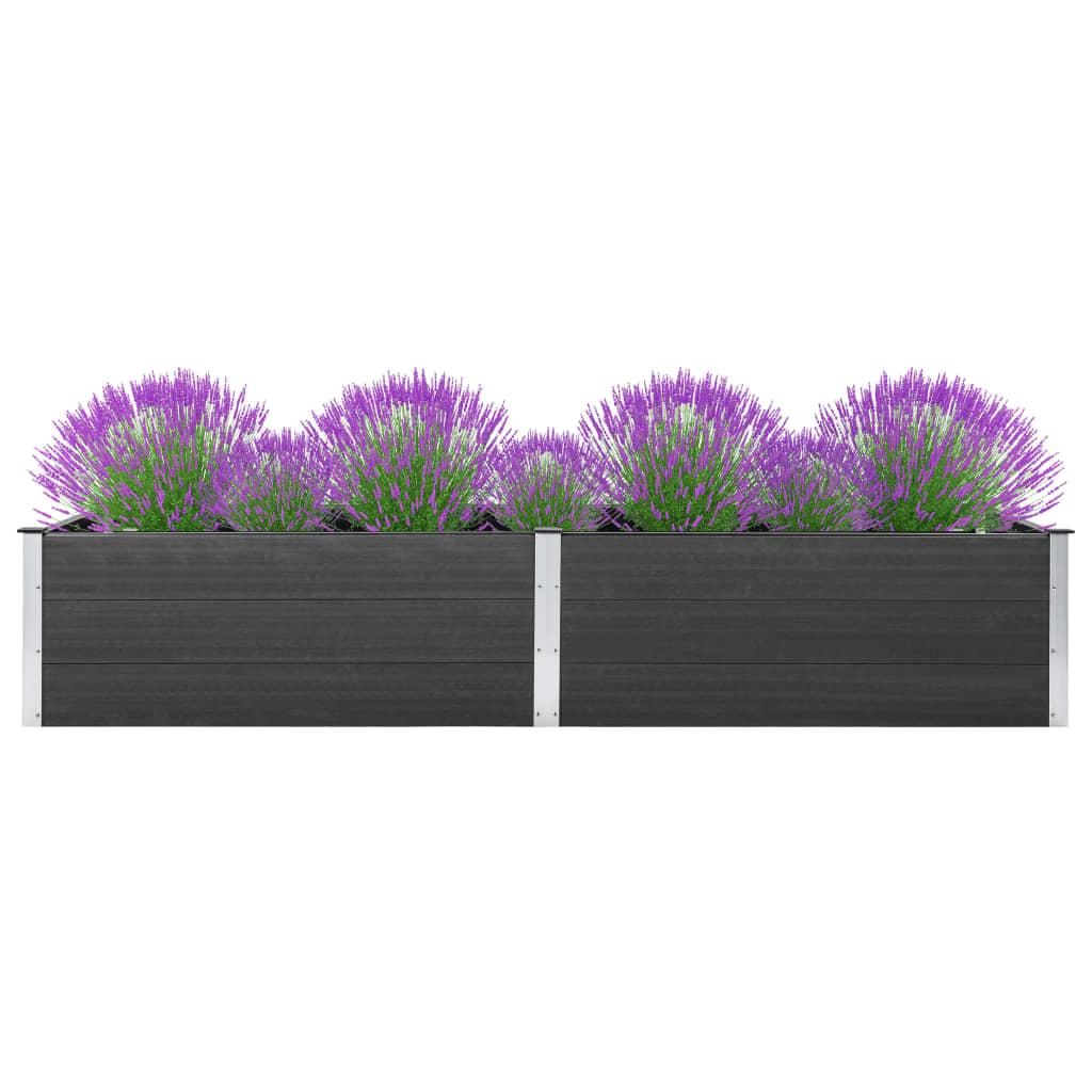 vidaXL Strat înălțat de grădină, gri, 300 x 100 x 54 cm, WPC poza vidaxl.ro
