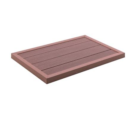 vidaXL Golv till utedusch brun 101x63x5,5 cm WPC