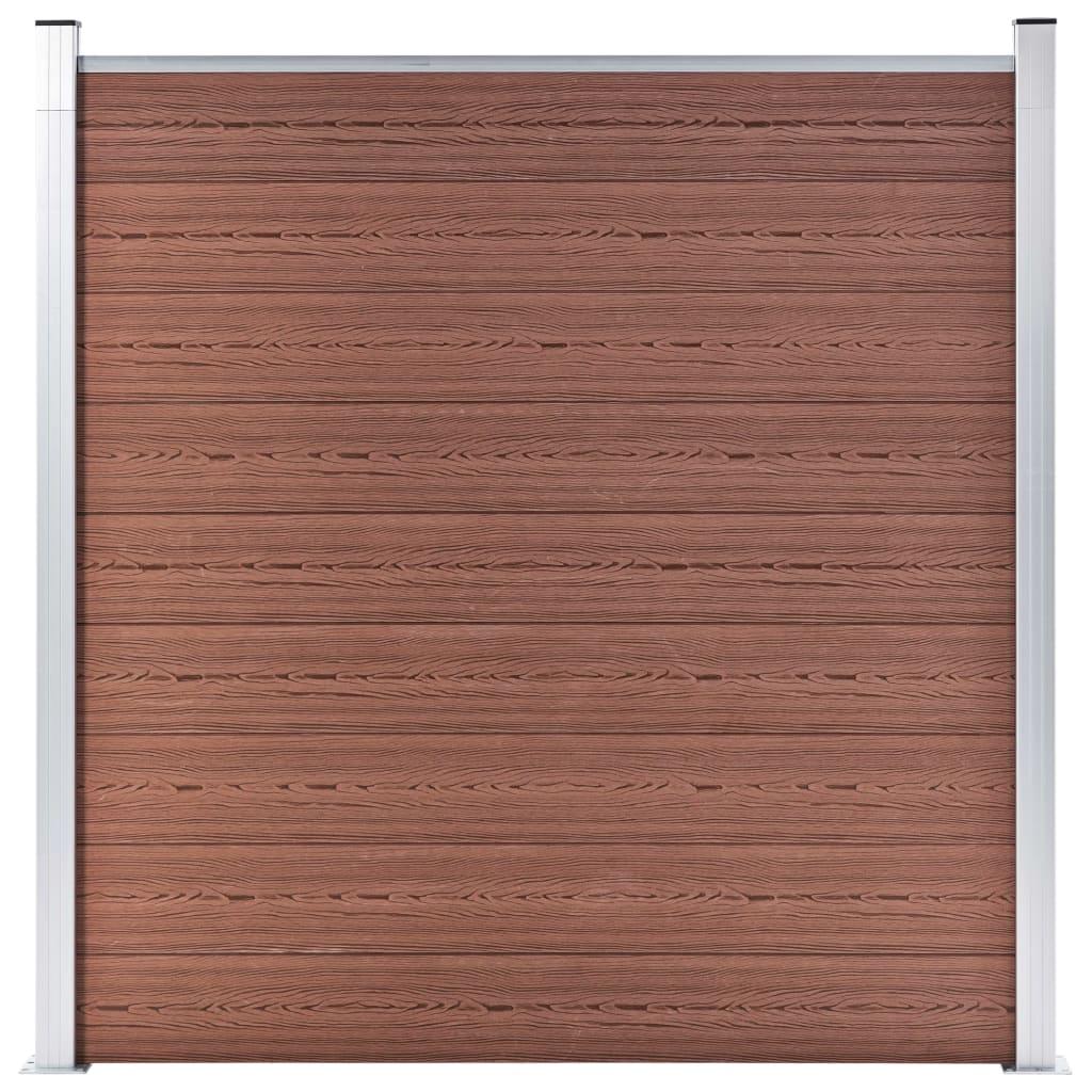 vidaXL Hagegjerde WPC 180×186 cm brun