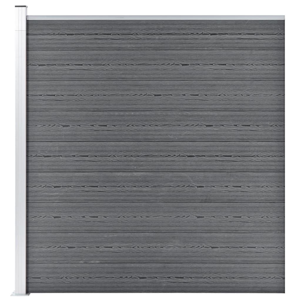 vidaXL Hagegjerde WPC 180×186 cm grå
