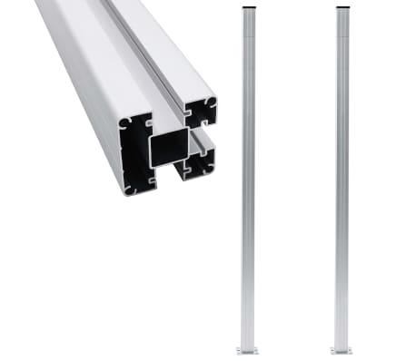 vidaXL Fence Posts 2 pcs Aluminium 185 cm