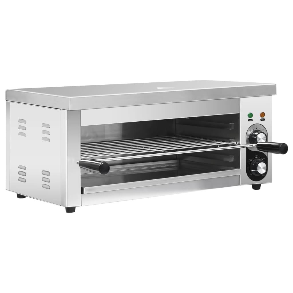 vidaXL Grătar Salamander electric Gastronorm, 2500 W, oțel inoxidabil poza vidaxl.ro