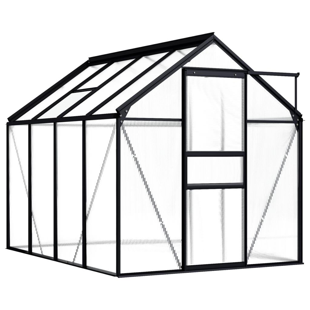 Skleník antracitový hliníkový 4,75 m²