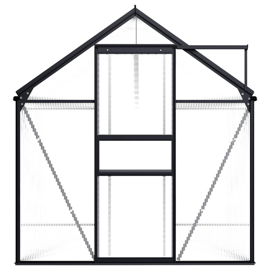vidaXL Broeikas 5,89 m² aluminium antraciet