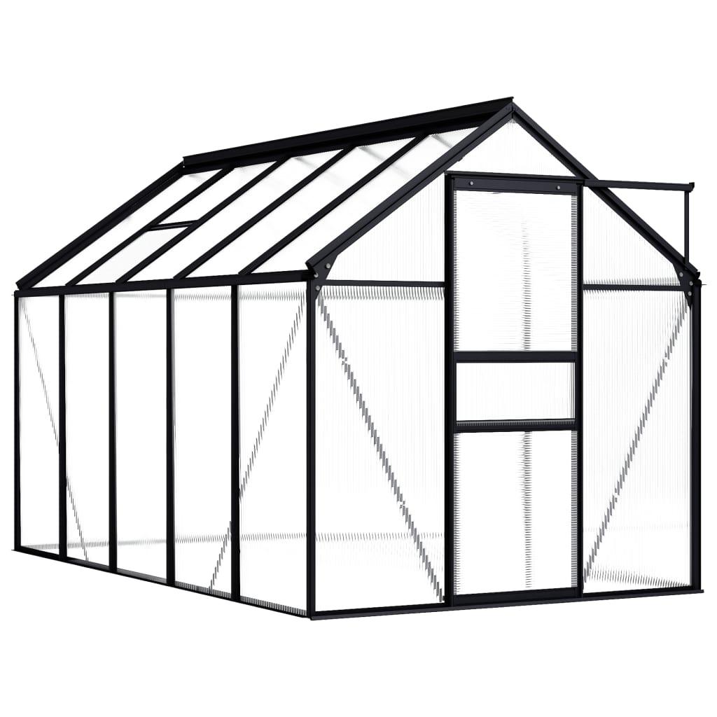 Skleník antracitový hliníkový 5,89 m²