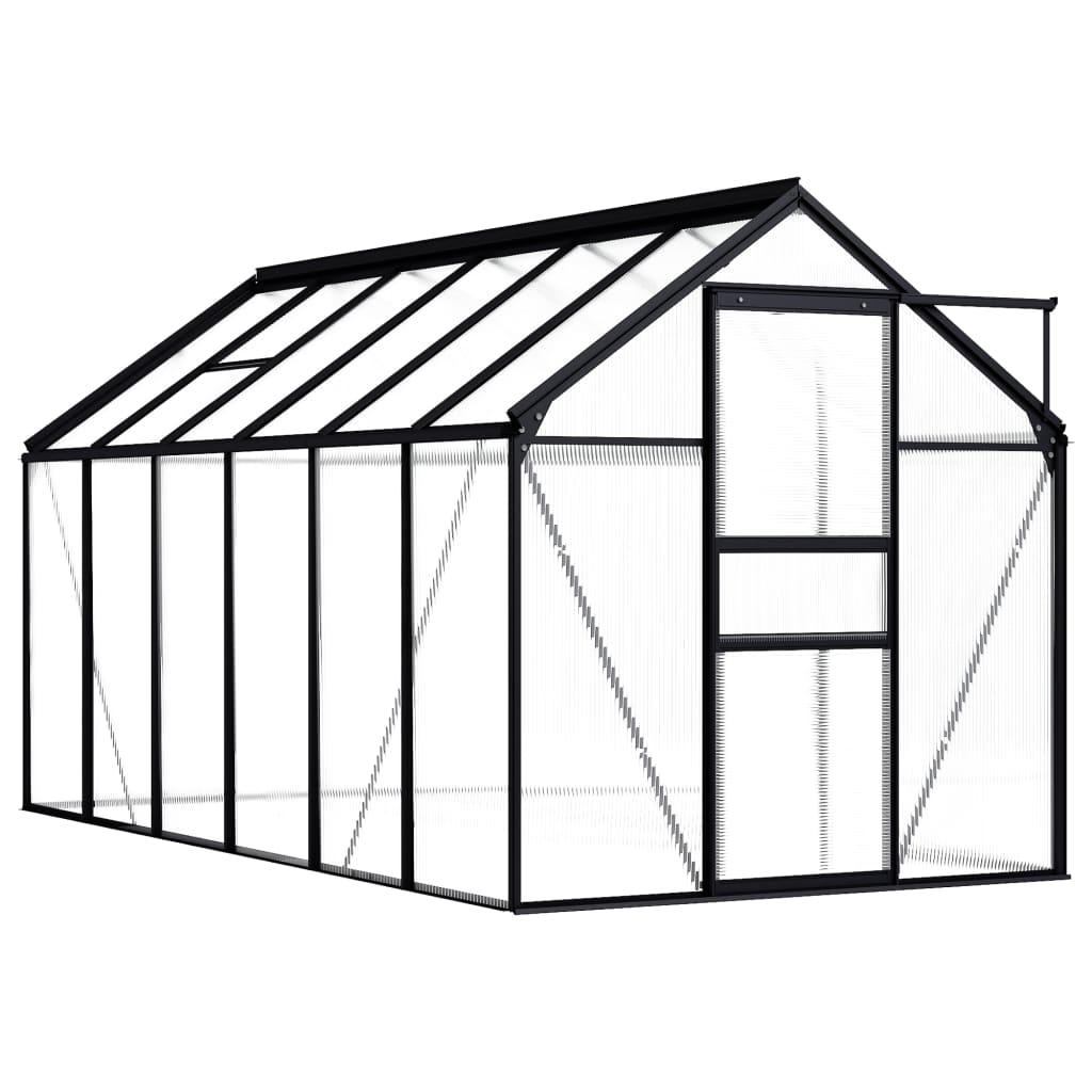 vidaXL Seră, antracit, 7,03 m², aluminiu vidaxl.ro