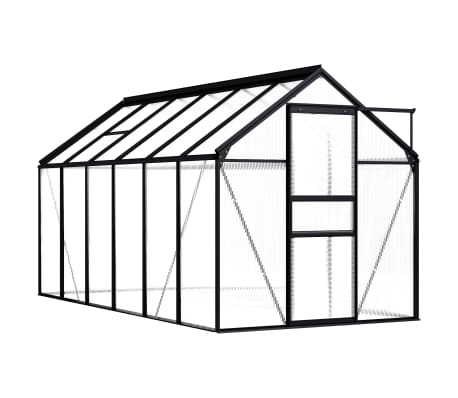 vidaXL Greenhouse Anthracite Aluminium 7.03 m²