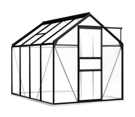 vidaXL Serre avec cadre de base Anthracite Aluminium 4,75 m²