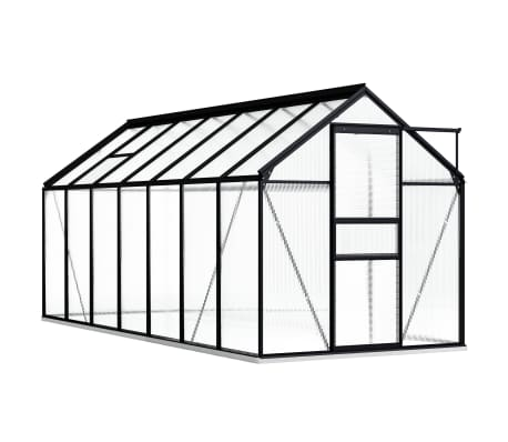 vidaXL Greenhouse with Base Frame Anthracite Aluminium 8.17 m²
