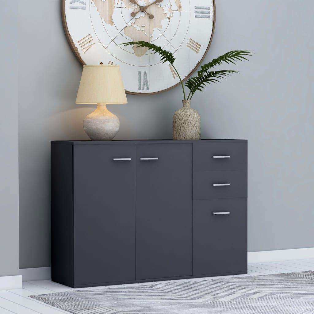 vidaXL Příborník šedý 105 x 30 x 75 cm dřevotříska