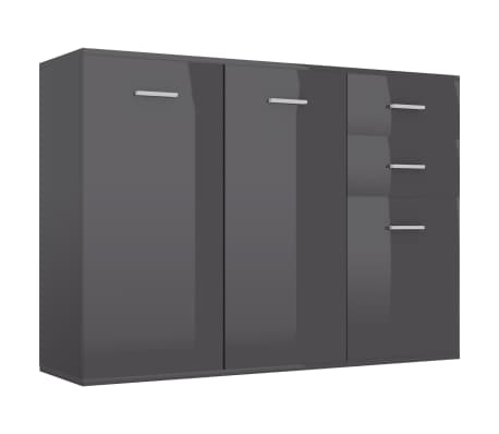 vidaXL Servantă, gri extralucios, 105 x 30 x 75 cm, PAL