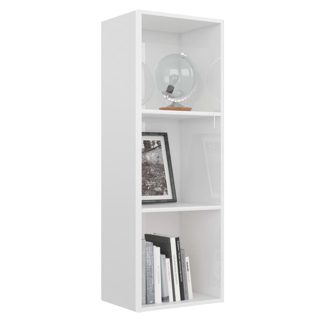 3-korruseline raamaturiiul valge 40x30x114 cm puitlaastplaat