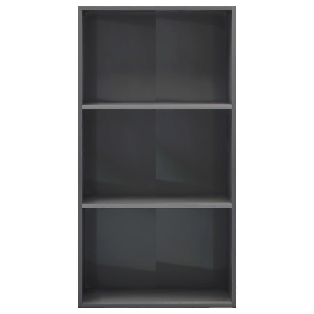 3-korruseline raamaturiiul hall 60x30x114 cm puitlaastplaat