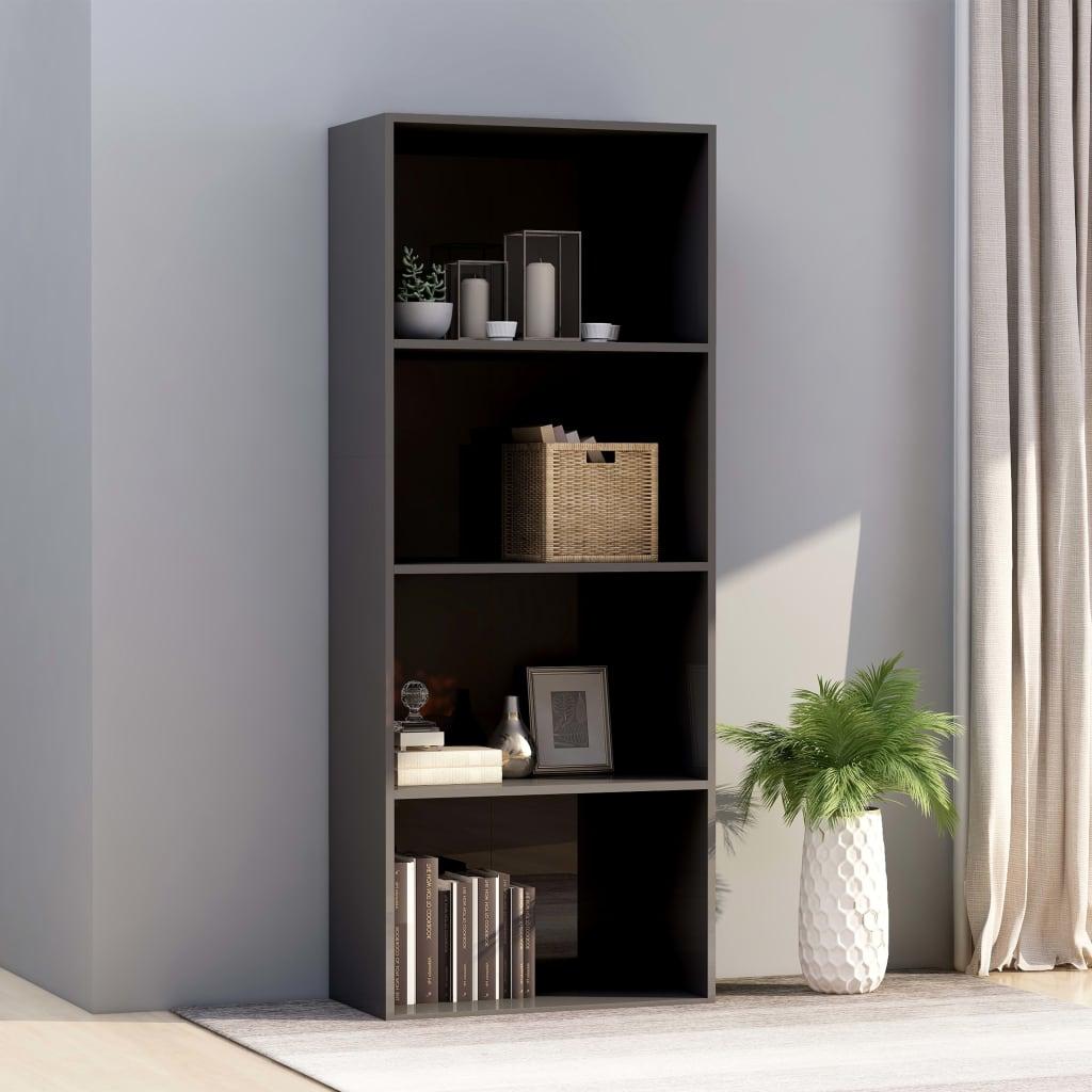 4-korruseline raamaturiiul hall 60x30x151,5 cm pu..