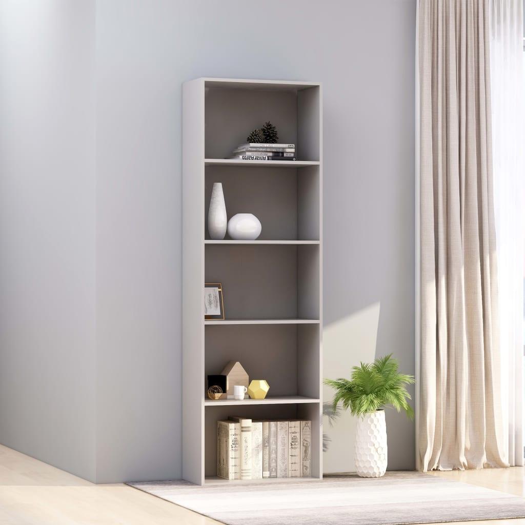 5-korruseline raamaturiiul, hall, 60x30x189 cm, p..
