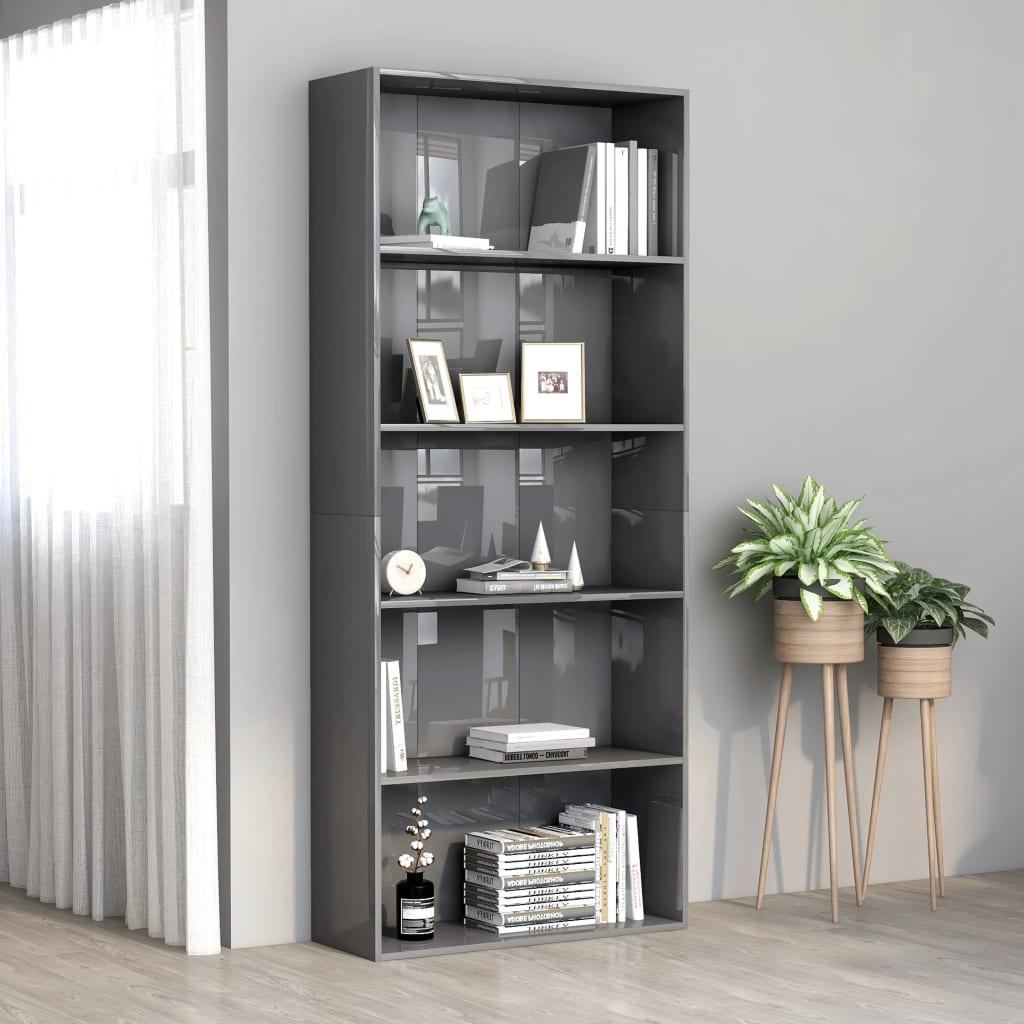 5-korruseline raamaturiiul, hall 80x30x189 cm, pu..