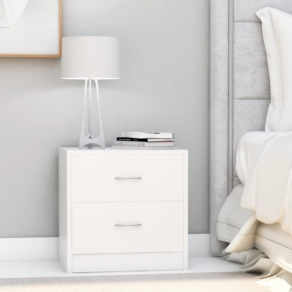 Noční stolky 2 ks bílé 40 x 30 x 40 cm dřevotříska