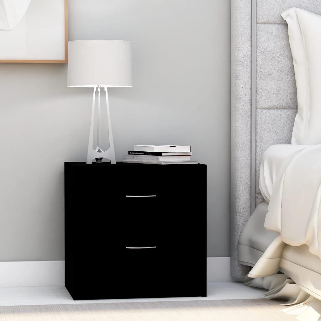 vidaXL Noptieră, negru, 40 x 30 x 40 cm, PAL poza 2021 vidaXL
