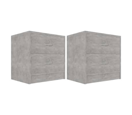 vidaXL Bedside Cabinets 2 pcs Concrete Grey 40x30x40 cm Chipboard