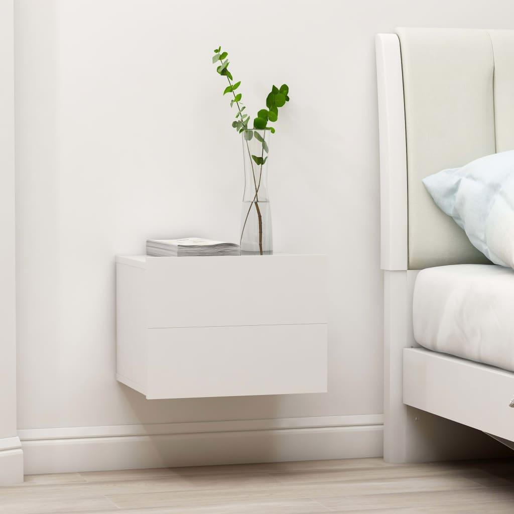 vidaXL Nachtkastje 40x30x30 cm spaanplaat wit