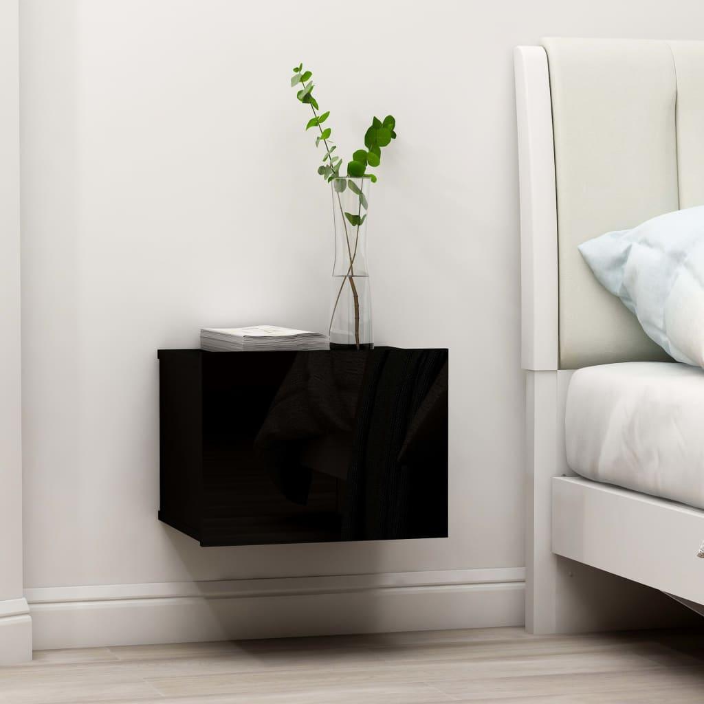 vidaXL Noptiere, 2 buc., negru, 40 x 30 x 30 cm, PAL imagine vidaxl.ro