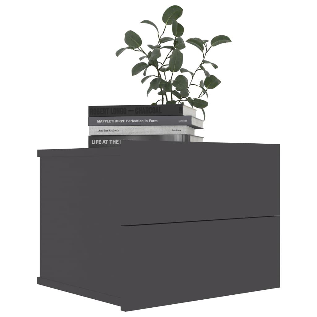 vidaXL Nachtkastje 40x30x30 cm spaanplaat grijs