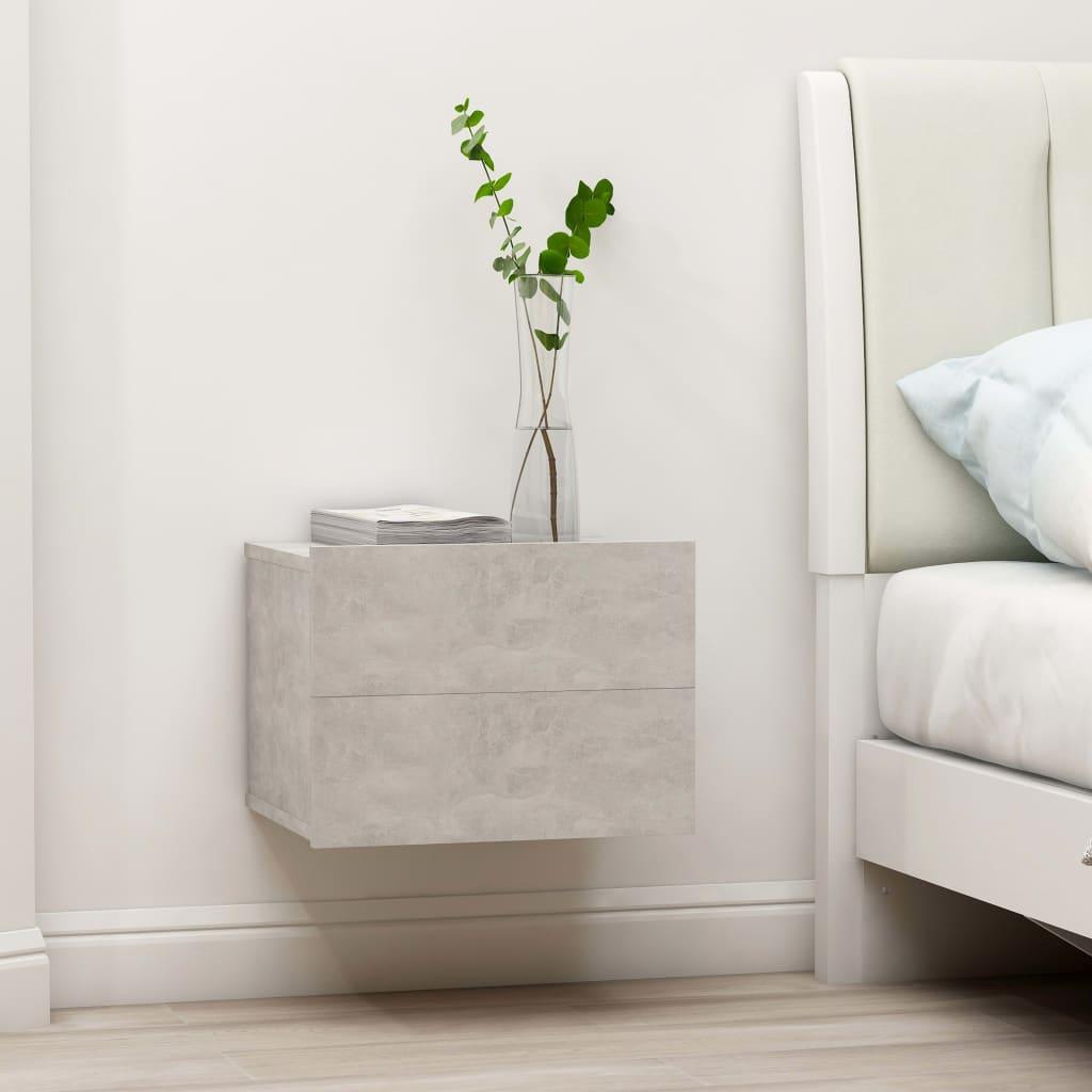 Nachtkastjes 2 st 40x30x30 cm spaanplaat betongrijs