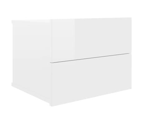 vidaXL Bedside Cabinet High Gloss White 40x30x30 cm Chipboard
