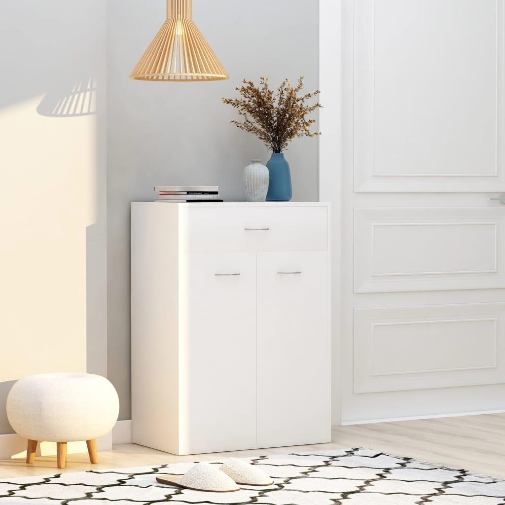 vidaXL Pantofar, alb, 60 x 35 x 84 cm, PAL vidaxl.ro