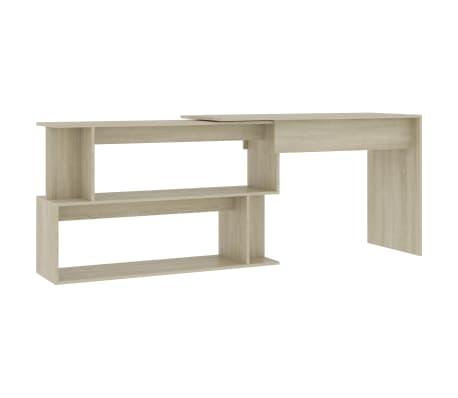 "vidaXL Corner Desk Sonoma Oak 47.2""x19.7""x29.9"" Chipboard"